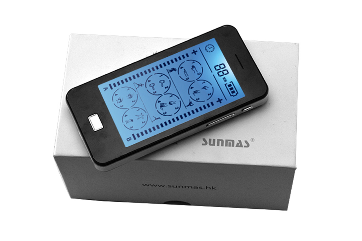Domas dual port touch screen tens factory price for aged-5