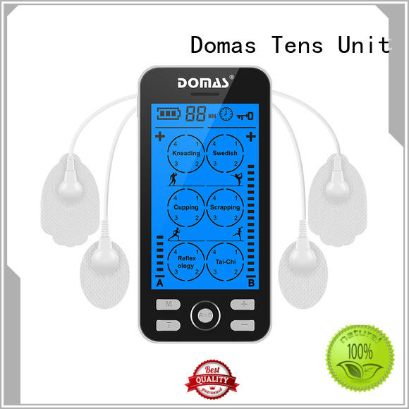 Domas small tens pain relief device dual port for aged