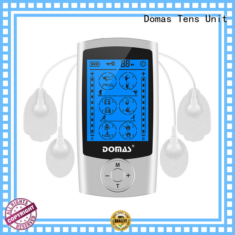 Domas independent electric pulse massager dual port for home