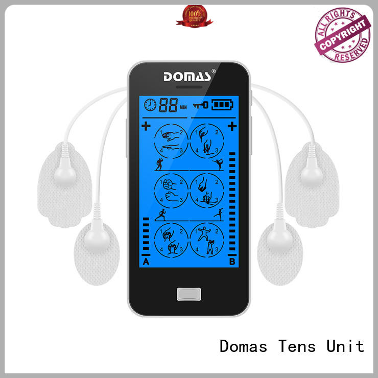 Domas rechargeable tens touch machine environmentally for household